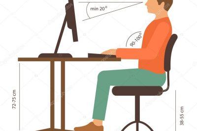 Posiciones adecuadas en la oficina